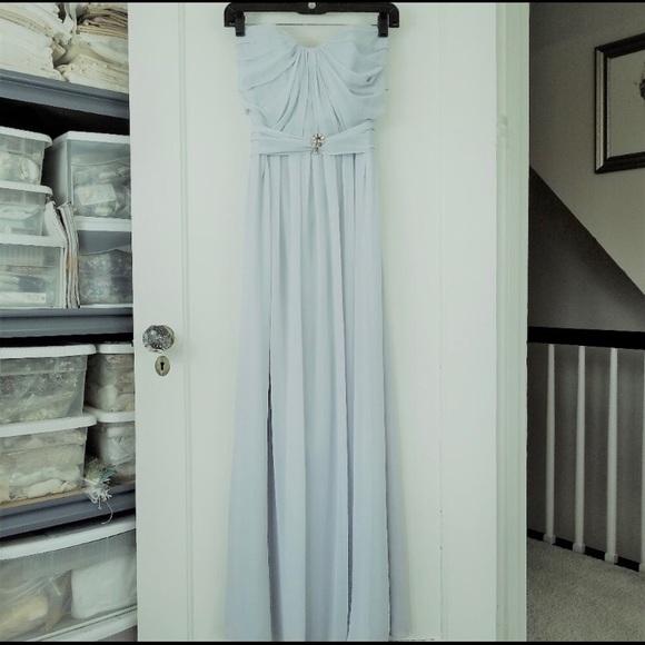 After Six Dresses & Skirts - Powder blue chiffon gown